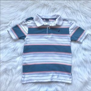 NAUTICA Boys Striped Polo, Size m (5/6) A36